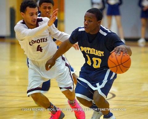 West Creek boys basketball downs Northeast in District action. (Michael Rios-Clarksville Sports Network)