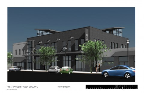 A rendering of the renovated building provided by Gilbert McLaughlin Casella Architects.