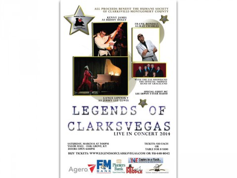 2014 Legends of Clarksvegas poster