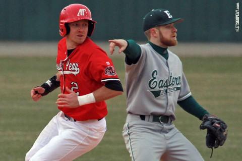 Austin Peay State University Baseball sweeps Eastern Illinois. (Brittney Sparn/APSU Sports Information)