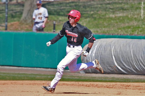 Austin Peay designated hitter Logan Gray hit his fourth home run of 2014 in Sunday's lostt to Murray State. (Brittney Sparn/APSU Sports Information)