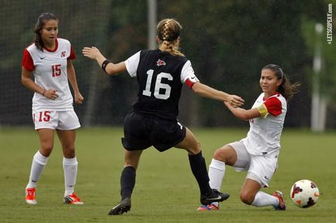 APSU Soccers's #15 Tatiana Ariza and #11 Natalia Ariza go pro. (Keith Dorris/Dorris Photography)