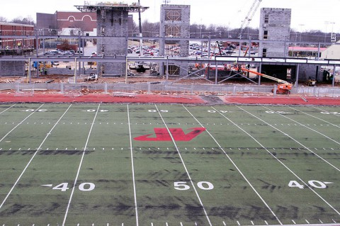 Austin Peay's Governors Stadium starts to take shape. (APSU Sports Information)