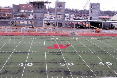 Austin Peay's Governors Stadium starts to take shape. (APSU Sports Information)