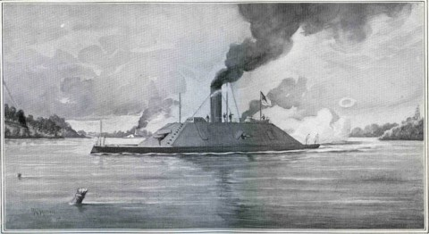 The Confederate Navy ironclad CSS Richmond.