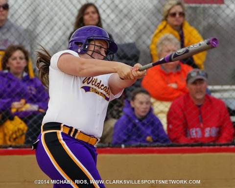 Clarksville High School's softball use four home runs in final innings to break 3-3 tie against Northwest High School Monday.