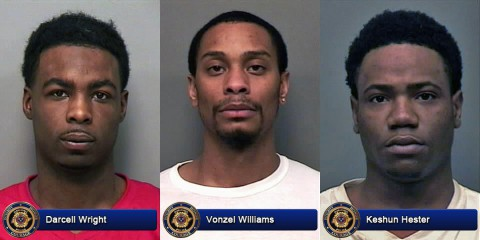 Darcell Wright, Vonzel Williams, and Keshun Hester