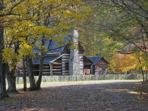The Double Pen House at LBL's The Home Place (Land Between the Lakes)