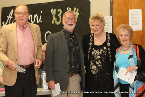 Debbie Wilson with some community members before the concert