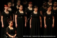 Students performing in the choral concert