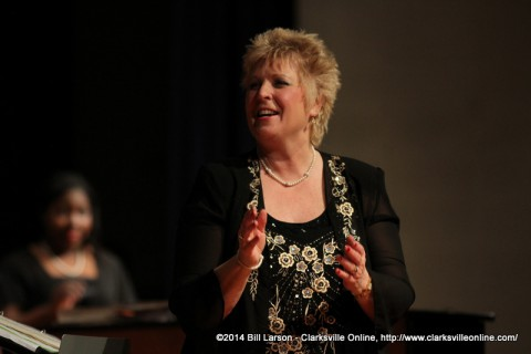 Debbie Wilson at the Choral Show on Saturday at Northeast High School