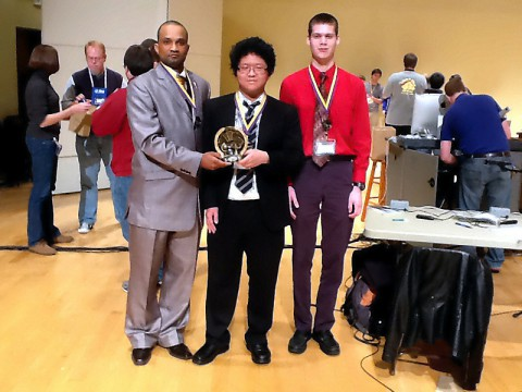 Dodji Kuwonu, David Zhang and Benjamin D. Firth led the APSU Math Jeopardy Team to a second place win at the Mathematics Association of Mathematics south-east sectional annual meeting.