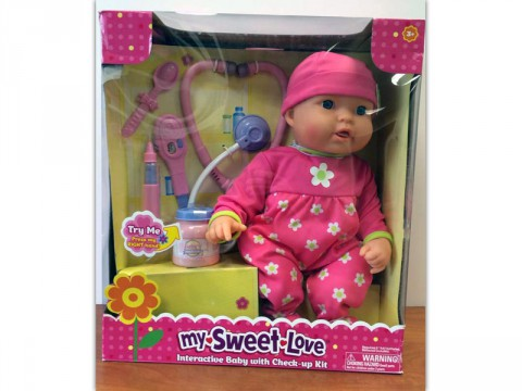 My Sweet Love Cuddle Care Doll recalled by Walmart due to Burn Hazard.