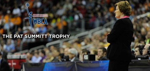 Pat Summitt Trophy unveiled by Women's Basketball Coaches Association  and Russell Athletic (UT Sports Information)
