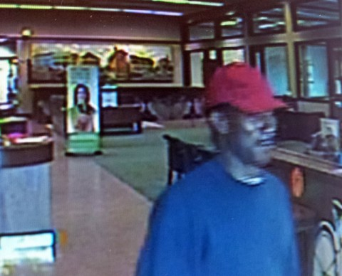Regions Bank Robbery Suspect. Anyone with information or who can identify the suspect should call 931.648.0656 Ext. 5531.