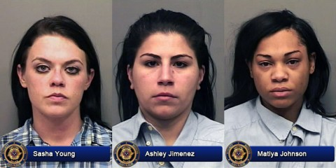 Sasha Gail Young, Ashley Jimenez and Matiya Johnson