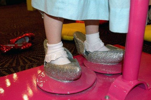 Try on the Silver Slippers