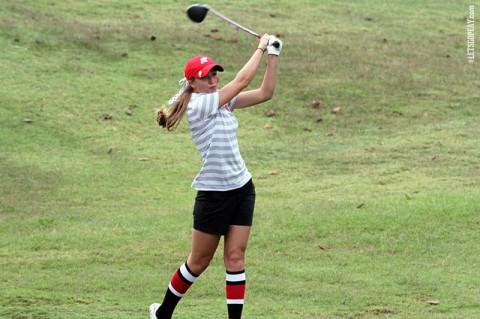 APSU's Jessica Cathey leads the way with a 75. Austin Peay Women's Golf. (APSU Sports Information)