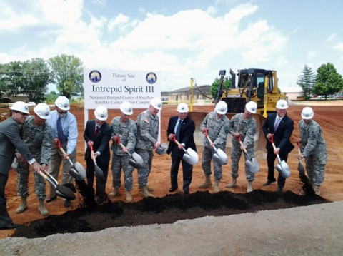The groundbreaking of the Fort Campbell Center. (National Intrepid Center of Excellence)