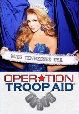 Miss Tennessee USA Kristy Landers Neidenfuer is a national spokesperson for Operation Troop Aid! She appears at various events on the organizations behalf.