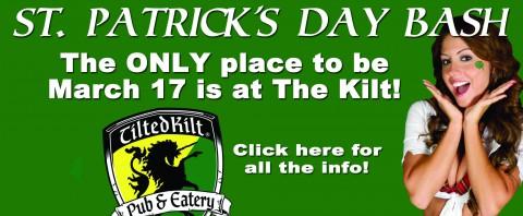 St. Patrick's Day Bash at Clarksville's Tilted Kilt