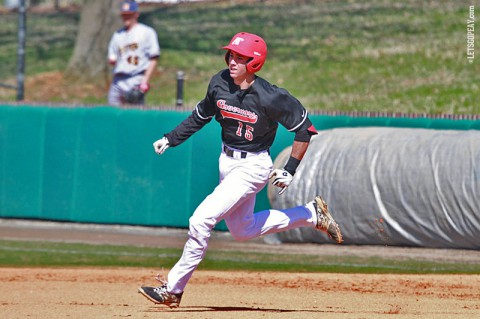 Austin Peay shortstop Logan Gray went 3-for-4 with four RBI, including a 2-run home run, in Sunday's loss at Tennessee Tech. (Brittney Sparn/APSU Sports Information)