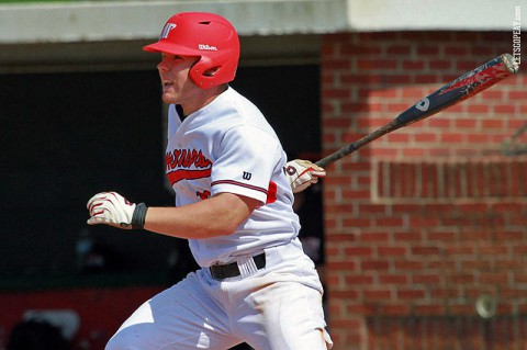 Austin Peay outfielder Cayce Bredlau had 2 hits and 3 RBI in Saturday's loss to Southeast Missouri. (Brittney Sparn/APSU Sports Information)