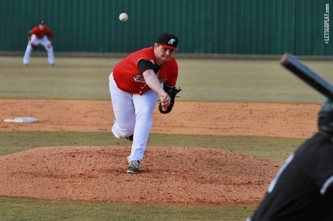 Right-hander Caleb Powell will seek to reprise his early performance against the Salukis in Wednesday's start at Southern Illinois. (Brittney Sparn/APSU Sports Information)