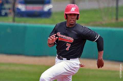Austin Peay outfielder Rolando Gautier leads the Govs with a .341 batting average during the second half. APSU hosts Eastern Kentucky, starting with a 6:00pm, Friday contest. (Brittney Sparn/APSU Sports Information)