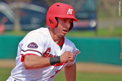 Austin Peay shortstop Logan Gray had two doubles as part of a 2-for-4, one RBI outing in the Govs loss at Belmont, Saturday. (Brittney Sparn/APSU Sports Information)
