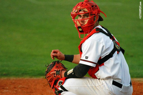 Austin Peay catcher Ridge Smith went 4-for-5 with a RBI in Wednesday's loss to Middle Tennessee. (Brittney Sparn/APSU Sports Information)