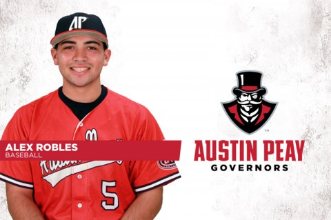 Austin Peay's Alex Robles named Ohio Valley Conference Pitcher of the Week. (APSU Sports Information)