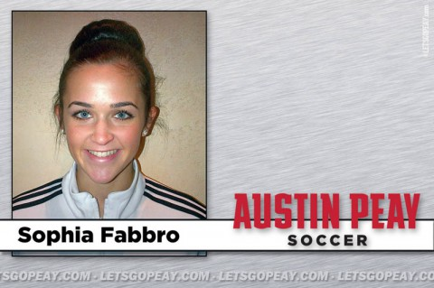 Sophia Fabbro to join Austin Peay Lady Govs Soccer this fall. (APSU Sports Information)