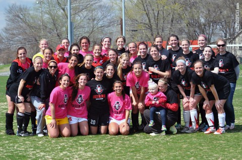 Austin Peay Lady Govs past and present were on hand at last Saturday's 'Kickin' it for Emma' event to raise money for the Pediatric Brain Tumor Foundation. (APSU Sports Information)