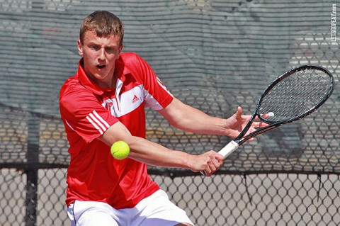 Austin Peay Men's Tennis advances to OVC Tournament semifinals. (Brittney Sparn/APSU Sports Information)