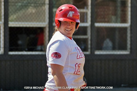 Austin Peay's Kayla Davidson had 4 RBI's to help propel Lady Govs Softball to 8-0 win over Middle Tennessee Blue Raiders.