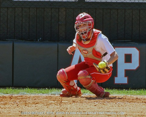 Austin Peay Softball catcher Mel Pavel. (Michael Rios Clarksville Sports Network)