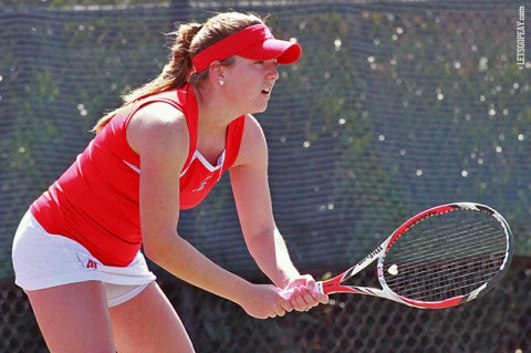 Austin Peay Lady Govs Tennis. (Brittney Sparn/APSU Sports Information)