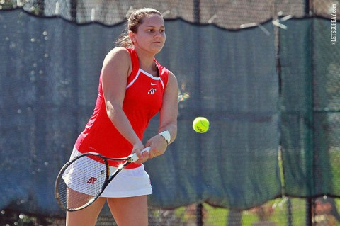 Austin Peay Lady Govs Tennis. (Brittney Sparn/APSU Sports Information)