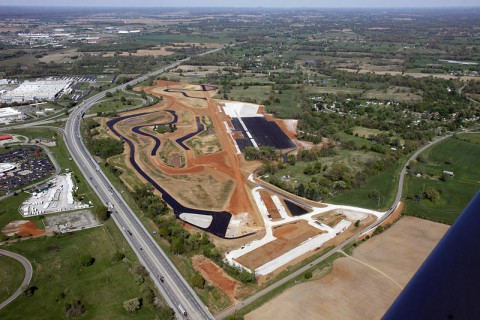 Aerial photo of the NCM Motorsports Park taken Wednesday, April 23rd, 2014.