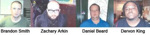 Brandon Smith, Zachary Arkin, Daniel Beard and Dervon King