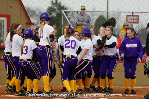 Clarksville High Softball defeats Kenwood 3-1 in District 10-AAA action. (Michael Rios Clarksville Sports Network)