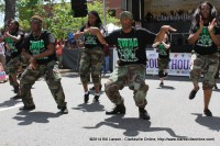 The North West High School Step Team performingin the Daymar Institute Stomping in the Street event at the 2014 Rivers and Spires Festival