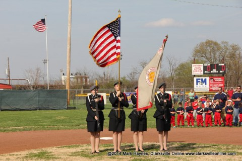 Montgomery Central Little League Opening Day Ceremony.