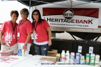 Festival volunteers from Heritage Bank
