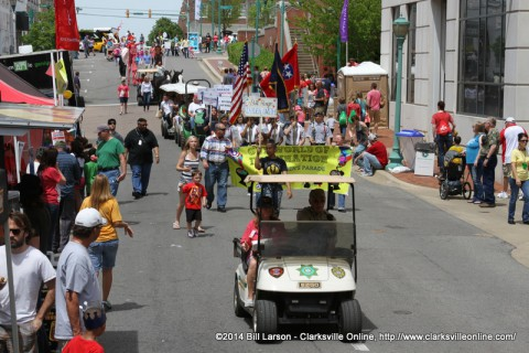 The Children's Parade at the Rivers and Spires Festival