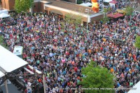The audience for Headliner Randy Houser at the 2014 Rivers and Spires Festival