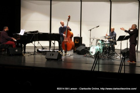 The Grégoire Maret Quartet performing at Austin Peay State University