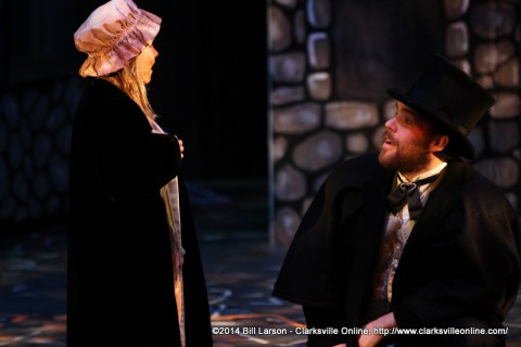 Young Cosette (Kylan Elizabeth Ritchie) with Jean Valjean (Will Sevier)