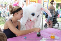 The Easter Bunny dyes his own Egg at the City of Clarksville's Wettest Egg Hunt on Saturday